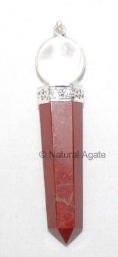 Red Jasper Ball Pendants