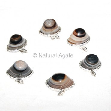 Agate Eye Pendants