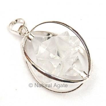 Crystal Merkaba Star pendants