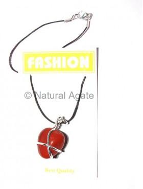 Red Jasper Silver Wraped Pendants