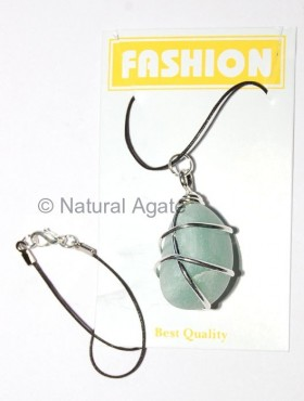 Green Aventurine Silver Wrapped Pendants