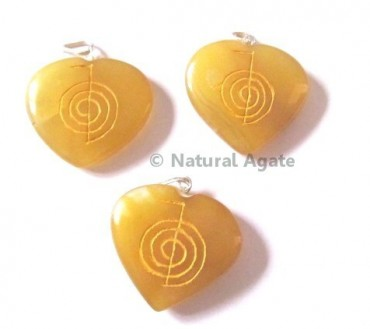 Golden Quartz Choko Reiki pendants