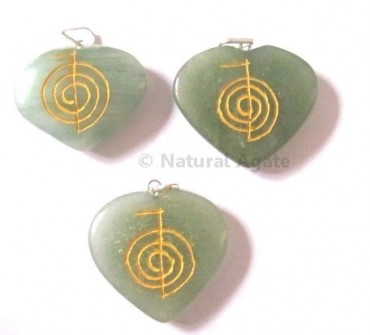 Green aventurine Choko Reiki pendants