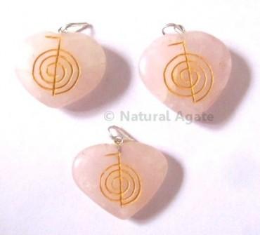 Rose Quartz Choko Reiki pendants