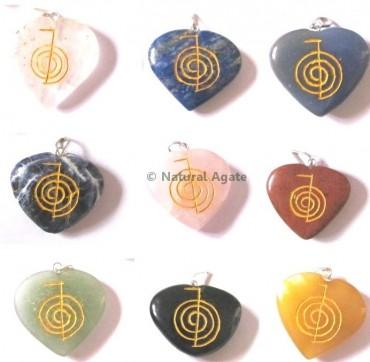 Mix Gemstone Choko Reiki pendants
