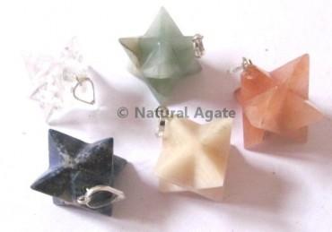 Mix Gemstone Merkaba Star