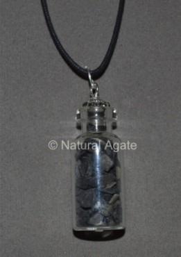 Black Agate Bottle Pendants