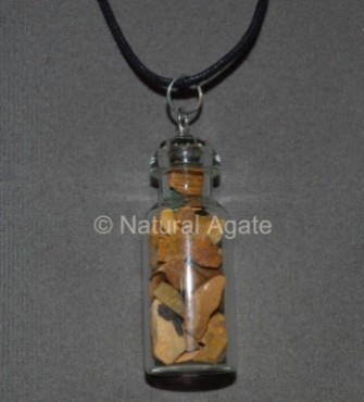 Yellow Jasper Bottle Pendants