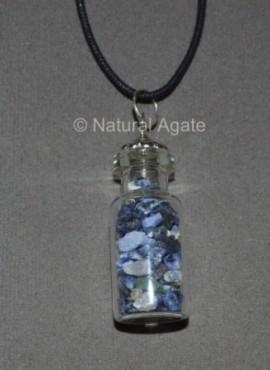 Sodalite Bottle Pendants