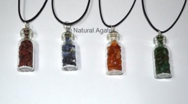 Mix Gemstone Bottle Pendants