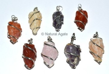 Mix Gemstone Hammerd Pendulums Pendants