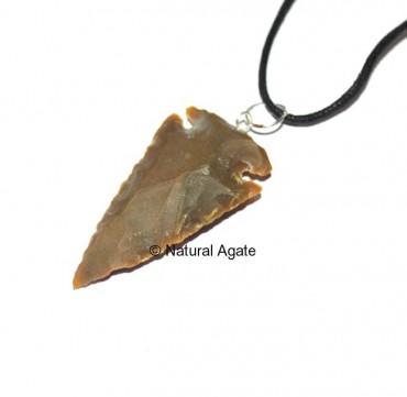 Brown Jasper Arrowheads Pendants