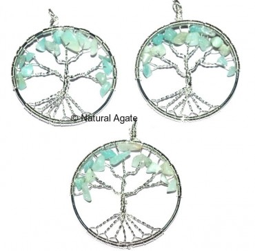 Green Aventurine Tree Pendants