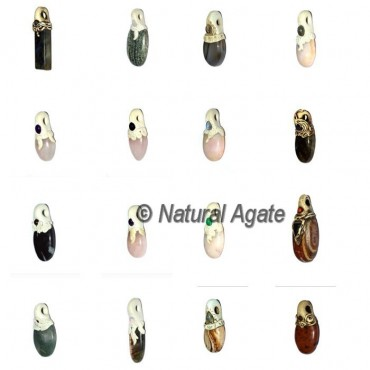 Mix Shape Gemstone Cabs Pendants