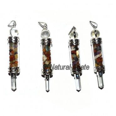 Glass Bottle 3pcs Pendants