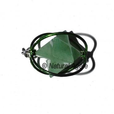 Green Aventurine Green Cage Merkaba Pendants