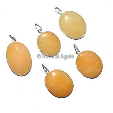 Yellow Aventurine Oval healing Pendants