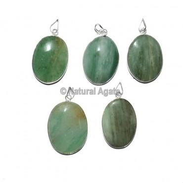 Green Aventurine Oval Healing Pendants