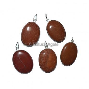 Red Jasper Oval Healing Pendants