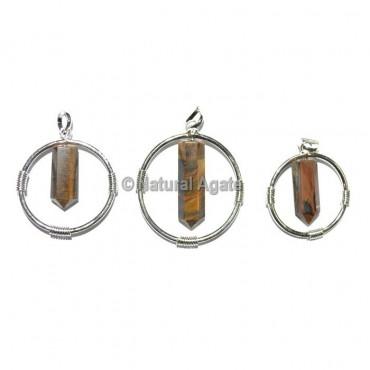 Tiger Eye Round Healing Pendants