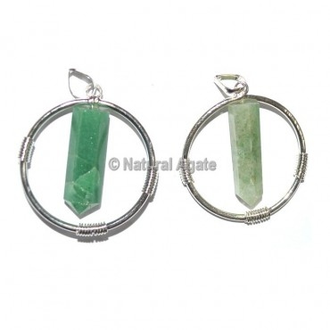 Green Aventurine Round Healing Pendants