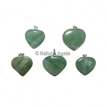 Green Aventurine Heart Pendants
