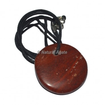 Red Jasper disc Pendants