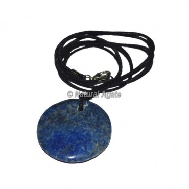 Lapis Lazuli disc  Pendants