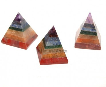 Seven Chakra Pyramids