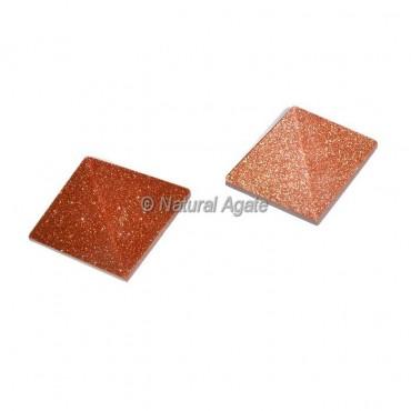 Brown Sunstone Small Pyramids