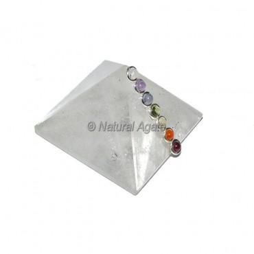 Crystal Quartz Seven Chakra Pyramids