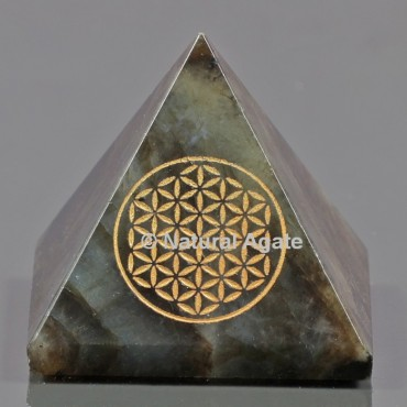 Labradorite With Engraved Flower Of Life