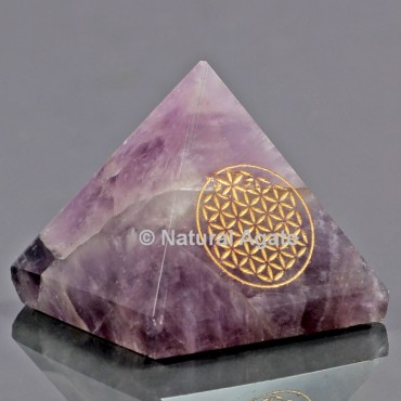 Amethyst With Engraved Flower Of Life