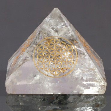 Crystal Quartz With Flower Of Life
