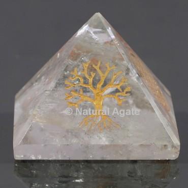 Crystal Quartz With Tree Of Life