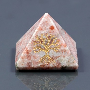 Sunstone With Tree Of Life
