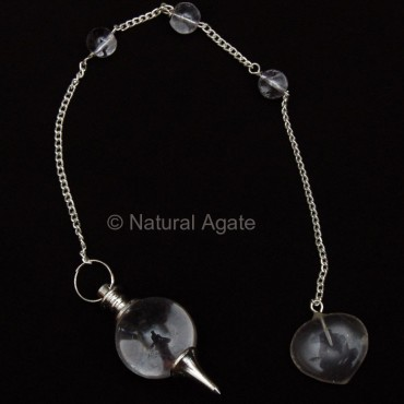 Crystal Quartz Tear Drop Pendulums