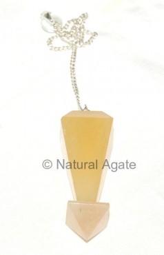 Golden Quartz Pyramid Pendulums