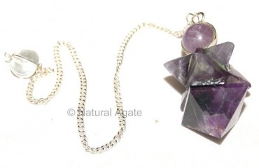 Amethyst Merkaba and Pyramid Pendulums