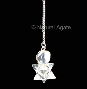 Crystal Quartz Healing Pendulums