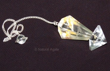 Crystal Quartz Pyramid Pendulums
