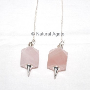 Rose Quartz Dowsing Pendulums