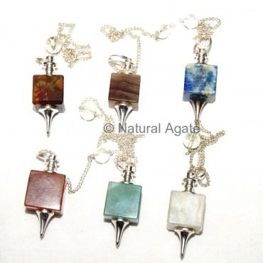 Mix Gemstone Square Pendulums