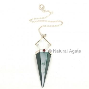 Green Jade Pyramid Pendulums