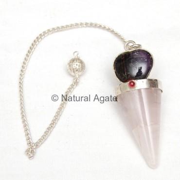 Rose Quartz Pendulums with heart