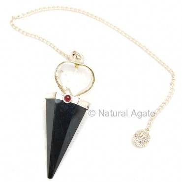 Black Agate Pendulums with heart