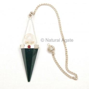 Green Jade faceted Pendulums