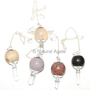 Mix Gemstone Ball and Pencil pendulums