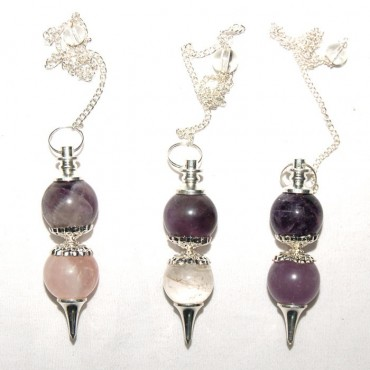 Double Ball Quartz Pendulums