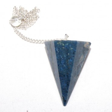 Sodalite Faceted Pendulums